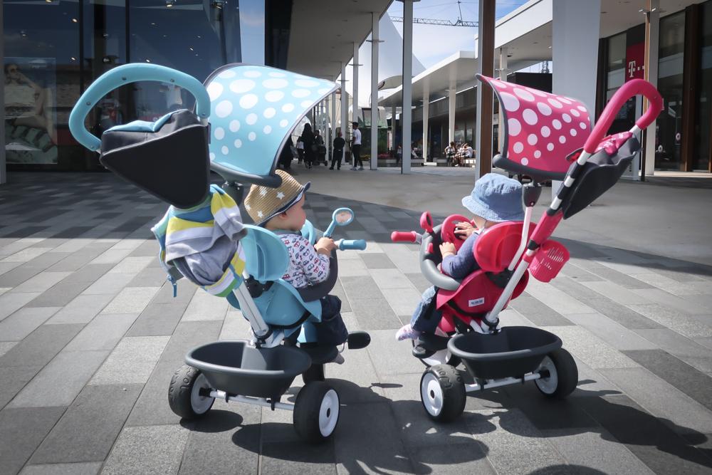 Das Dreirad von Smoby 4-in-1 Komfort – einfach raus ohne Buggy