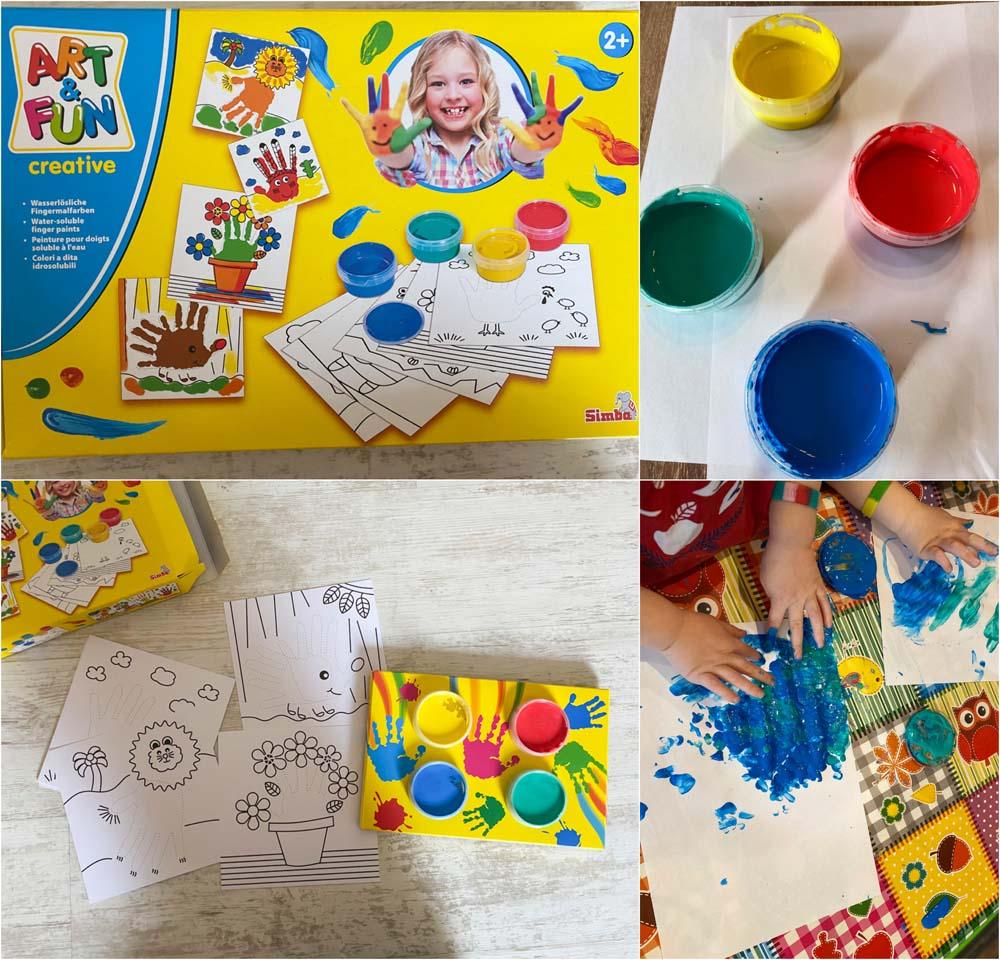 Malen mit Fingermalfarben – Beschäftigungsidee für Kinder