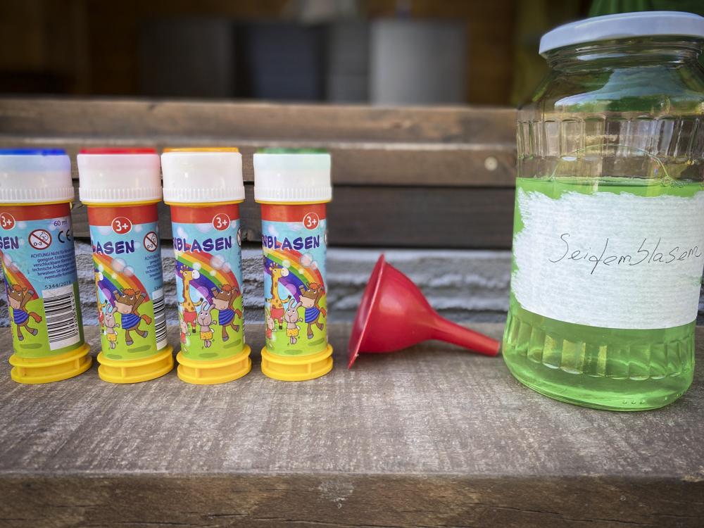 Seifenblasen kostengünstig selber machen