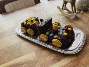 Unser Kindergeburtstagskuchen – Eisenbahn-Kuchen